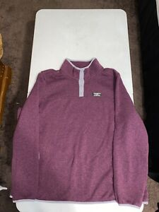 LL Bean 1/4 Snap Pullover Sweater Men's Size 3X Purple