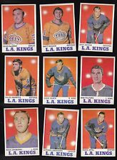 1970 Topps Team SET Lot of 9 Los Angeles KINGS Near Mint  DeJORDY SHACK JOYAL