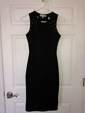 Almost Famous Women's Junior's Black Dress Bodycon Formfitting Size Xs