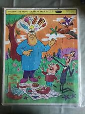 1966 Milton The Monster Hal Seeger Whitman Puzzle Frame-Tray