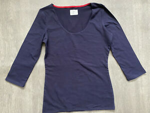 BODEN navy blue Double Layer top size 6  NEW.  WO153  sample
