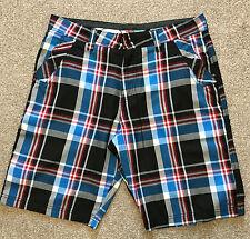 Una vez usado o 'Neill Santa Cruz audaz cheque Surf Chino Pantalones Cortos de utilidad 32 W