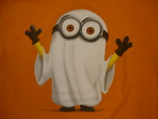 Despicable Me 2 Minion Ghost in Bedsheet Funny Cute Movie Character T Shirt M