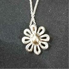 Tiffany & Co. picasso Daisy Flower 18K Gold Sterling Silver Necklace Excellent 3