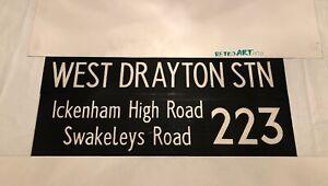 "London Bus Blind 21.2 1979 36"" 223 West Drayton Ickenham High Road Swakeleys Rd"