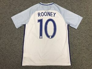 2016 England Rooney Jersey Shirt Kit Nike L Large 10 White Home Euro Wayne Fa