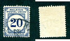 Used Malaya Postage Due - PERF 12 1/2 #J33a (Lot #10523)