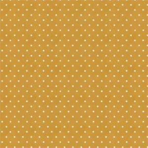 Clarke and Clarke Dotty Cotton ochre Fabric - Brand new per metre