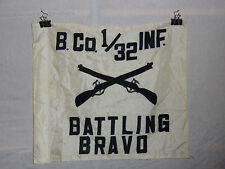 flag408 Vietnam era B.Co1/32 Inf Battling Bravo Infantry flag