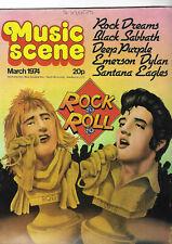 VINTAGE MUSIC SCENE MAGAZINE MARCH 1974 BLACK SABBATH, DEEP PURPLE, DYLAN ETC