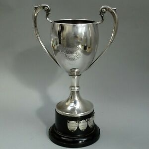 1954 Vintage Silver Plated Trophy Cup ~ CWS BOWLS CUP ~ Llanelly & Swansea CO-OP