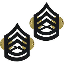 Vanguard USMC Marines E-7 Gunnery Sergeant Gunny Chevrons metal 1 PAIR