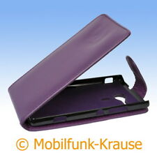 Flip Case Etui Handytasche Tasche Hülle f. Sony Xperia SP (Violett)