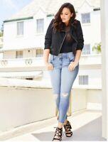 Torrid Premium Stretch Light Wash Jeggings Size 18R skinny plus size jeans Pre