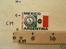 STICKER,DECAL WK ARGENTINA 1978 VOETBAL,SOCCER JH HENKES MEXICO