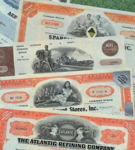 20 Different Stock Certificates for $18 (that's only 90¢ each).