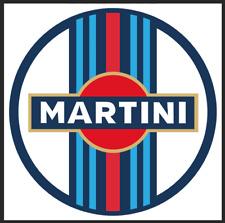 Martini Racing Aufkleber 2Stück in rund  10x10cm rund Neu rar selten !