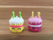 Shopkins Season 1 Wishes Cake Set Pair- Ultra Rare Glitter