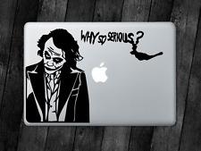 Joker Sticker Batman Why So Serious Decal Apple MacBook Mac iPad Laptop Car