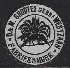 Vintage D & M Grootes, Factory Brand label, Westzaan, North Holland - cw32.30