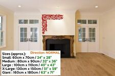Fab elegant floral corner pattern vinyl decal perfect living wall stickers NEW