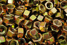 (600) 5/8-11 Grade 8 Hex Finish Nuts - Yellow Zinc Plated - Coarse Thread BULK