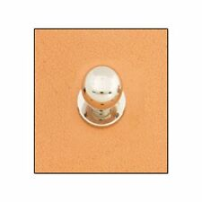 "Button Stud 1/2"" (12mm) Screwback Nickel 11312-02 by Tandy Leather"