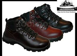 MENS FULLY WATERPROOF LEATHER UPPERS WALKING/HIKING/WINTER/SNOW BOOTS SIZE 7-8