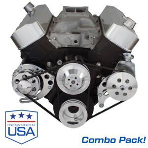 Big Block Chevy Alternator & Power Steering Brackets Combo Pack 396 427 454 BBC