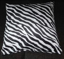Kissenbezug, Kissenhülle 40x40 cm, Fellimitat Zebra, Dekokissen, Handarbeit, neu