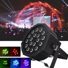 DMX512 PAR38 54W 18 LEDs RGB Stage Lighting LED Party DJ Disco Xmas Show Light
