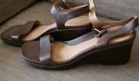Ladies Tan Leather Rockport Sandals with DMX UK Size 6 NEW