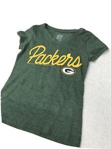 🌴 Junior Girls NFL Football Green Bay Packers Vneck Green Xlarge Xl 🌴