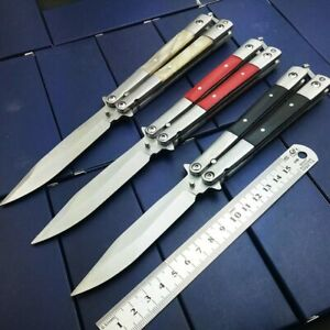 Tactical Butterfly IN Knife , Survival Tools Unsharp Trainer  , 3 Styles
