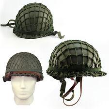 With Netting Cover M1 CS Helmet WWII Steel WW2 U.S Equipment Army Military