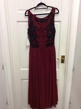 Dynasty Evening Dress Prom Dress Gown Red Black Size 10 BNWT