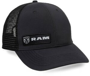 Dodge RAM Logo Black Mesh Back Cap