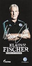 Klaus Fischer (Repräsentant) + FC Schalke 04 + Saison 2015/2016 + Autogrammkarte