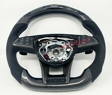 Mercedes C63, AMG GTS GT LED Carbon Fibre Steering Wheel - Customisable Options