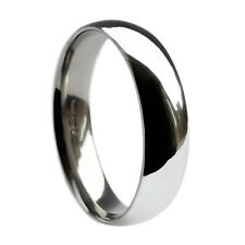 8mm 925 Sterling Silver Wedding Band Ring Court Comfort UK Hallmarked Solid I-Z4