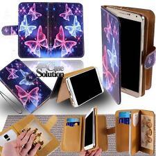 cuero Base Cartera Plegable Funda para varios sony xperia Modelo Smartphone