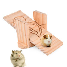 Pet Mouse Hamster Seesaw Cage Toy Swing Bridge Chinchill Guinea Pig Wood See Saw