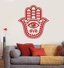 Vinyl Wall Decal Hamsa Hand of God Blessing Five Fingers Sticker (653ig)