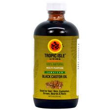 Tropic Isle Living Jamaican Black Castor Oil 8oz -Glass Bottle /Free Applicator