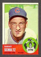 1963 Topps Baseball #452 Barney Schultz Chicago Cubs - 6th Series