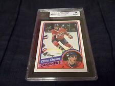 1984-85 OPC O-Pee-Chee #259 Chris Chelios Rookie Canadiens - KSA 9 MINT