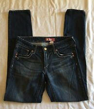 """H&M Sqin Fit Skinny Jeans Embroidered Details at Pockets sz 0S x 29"""""""