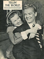 Barbara Hale Bill Williams clipping original magazine photo 1pg 8x10 R7946