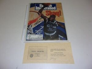 SHAQUILLE ONEAL LAKERS,ORLANDO MAGIC,HOF W/COA SIGNED SPORTS ILLUSTRATED