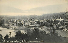 Vintage Postcard Bird's Eye View of West Curwensville PA Clearfield County